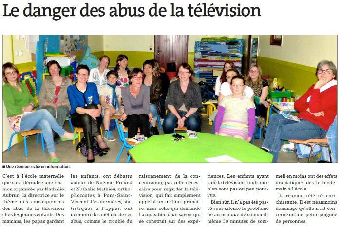 Pulligny article télévision
